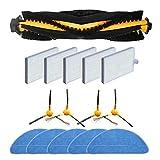 IUCVOXCVB Accesorios de aspiradora Cepillo de Rodillos Cepillo Lateral de la Cepillo HEPA MOPS Set para PRESOSCENIC 800T Filtro Robot TOUTUT CLEAPORTE Piezas (Color : Set)