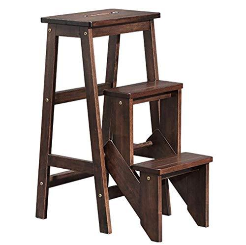 Yjll 3-laags klapstoel van massief hout met multifunctionele zittingen voor trappen, versterkt voor de Domestische tuin, Biblioteca, keuken, kantoor