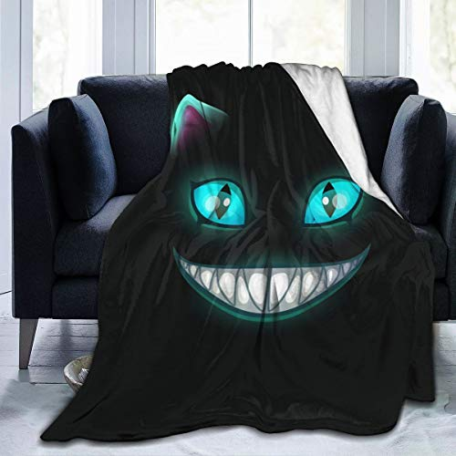 Cheshire Cat Flannel Fleece Throw Blanket Living Room/Bedroom/Sofa Couch Warm Soft Bed Blanket for Kids Adults All Season 50x60 inch
