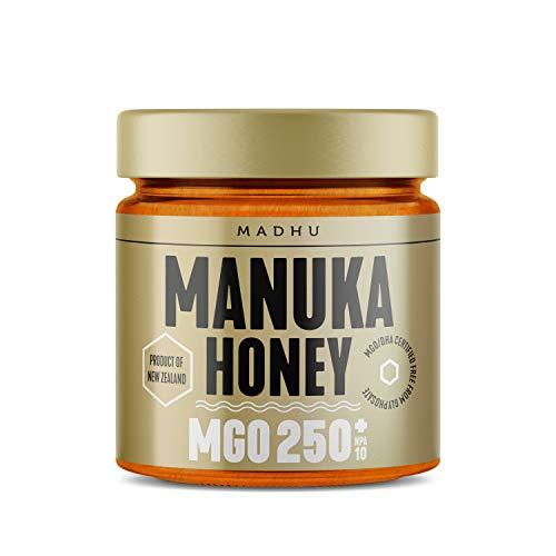 Manuka Honig 250+ MGO im hochwertigen Glas - Direkt vom Imker aus Neuseeland - zertifizierter Methylglyoxal-Gehalt (500g)