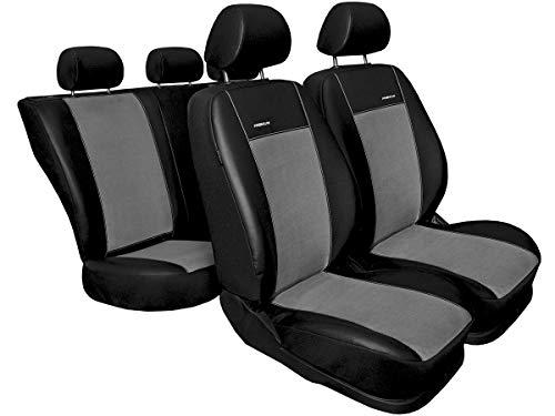 Nissan Qashqai Sitzbezüge nach Maß Autoplanen perfekte Passform Schonbezüge Sitzschoner Velour + Strickpolster ®Auto-schmuck (Qashqai II Premium grau)