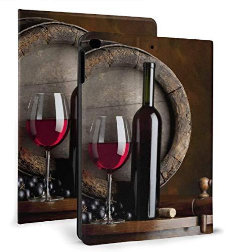 Red Wine Art PU Leather Smart Case Auto Sleep/Wake Feature for iPad Mini 4/5 7.9'& iPad Air 1/2 9.7' Case