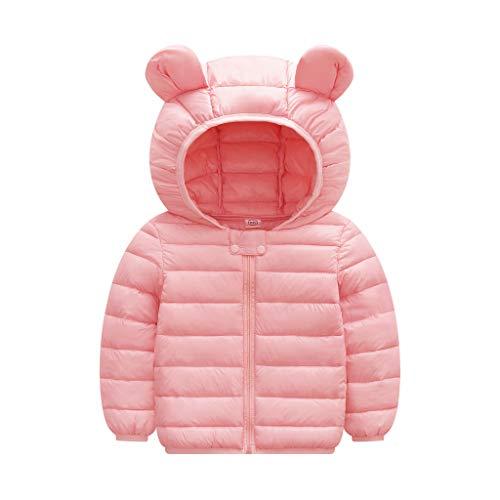 Coat HEternal Baby Boys Girls Jacket Romper Winter Warm Jacket Hooded Windproof Sweater Down Cardigan Long Sleeve Cotton 18 24 Months Pink