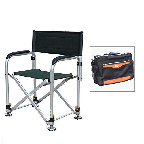 LIXIONG Chaise de Camping, Pliant Camping Chaises Portable Chaise de Plage Multifonction Tabouret de pêche avec Tout Terrain Les Griffes et Levage de la Jambe pour Camping pêche, 2 Style (Size : A)