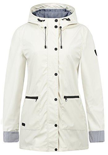 DESIRES Becky Damen Regenjacke Regenmantel Übergangsjacke Mantel mit Kapuze, Größe:M, Farbe:Vanilla IC (0116)