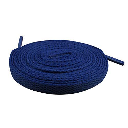 semen Schnürsenkel Flach Fat Laces Sportschnürsenkel 100-160cm, 8mm Breit, Mehr Farbe-Kombinationen Blau 120cm