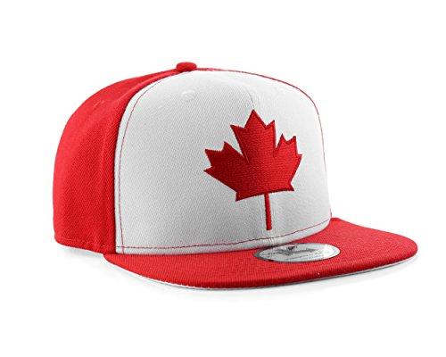 UNDERGROUND KULTURE Gorra de Beisbol roja y Blanca de Canadá