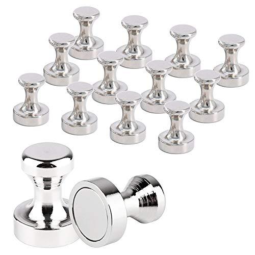 Magnete Uktunu 14 Stück Magnethaken Neodym Magnete mit Aufbewahrungs Box Neodym Super Mini Magnete für Glas Magnetboards Magnettafel Whiteboard Tafel Pinnwand Kühlschrank