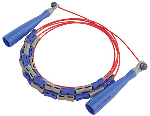 By Harbinger HumanX Beaded X2 Speed Rope Color Blue Gray Red