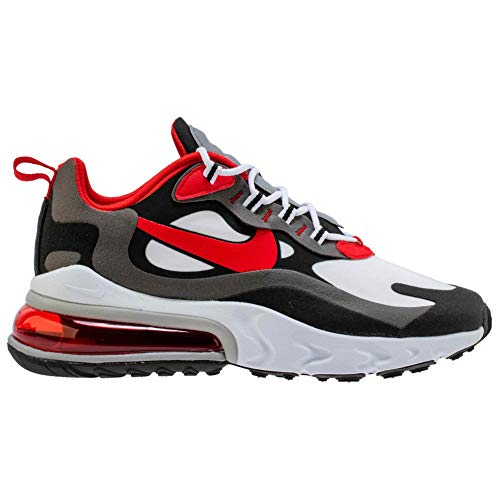 Nike Jungen AIR MAX 270 React (GS) Laufschuh, Iron Grey Univ Red Black White, 40 EU