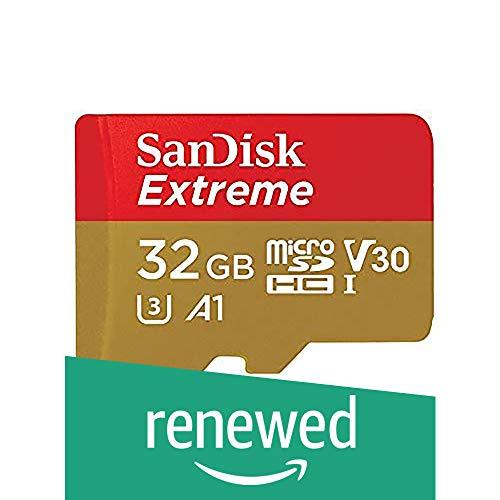 SanDisk Extreme microSDXC Memory Card + adattatore SD con A2 App Performance fino a 160 MB/s, classe 10, U3, V30 (ricondizionato certificato) n/a 32 go