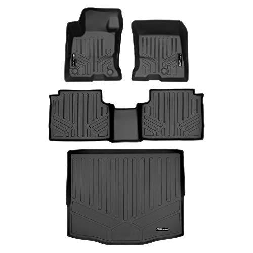 SMARTLINER Custom Floor Mats and Cargo Liner Behind 2nd Row Black for 2020-2021 Ford Escape Hybrid Models Only