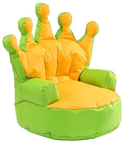 Living Room Chair Cojines, Corona de niños sofá Perezoso, sin señal Individual Sofá for sillas de Relax Juego Lounging Sillón
