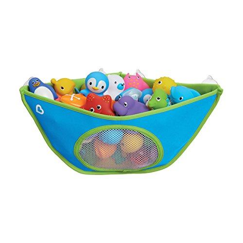 Munchkin High'n Dry Corner Bath Toy Organiser, Blue