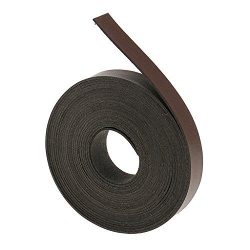 sharprepublic 5 Meter Lederband flach 20mm Lederriemen 2cm breit Lederbänder für DIY Taschengriffe, Gürtel - Leichter Kaffee