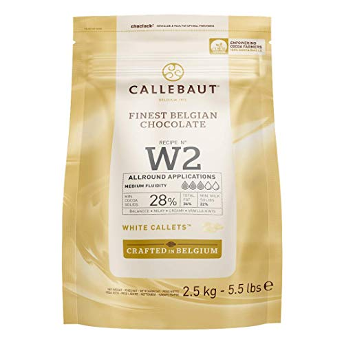 Callebaut W2 28% pepitas de Chocolate Blanco (callets) 2.5kg