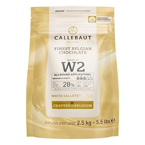 Callebaut W2 28% gocce di Cioccolato Bianco (callets) 2.5kg