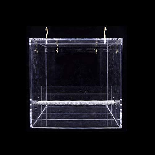 XYXZ Hängender Wildvogelhäuschen Klarglasfenster Betrachten Der Vogelfütterungsbox Haustiere Produkte Anti-Spreading Papageienfütterungsbedarf L.