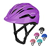 KAMUGO Bike Helmet Kids Toddler, Girls and Boys Bike Helmet Adjustable Helmet for Age 3-8 Years Old, Multi-Sport Helmet for Cycling Skateboard Skating Scooter Helmet(Purple)