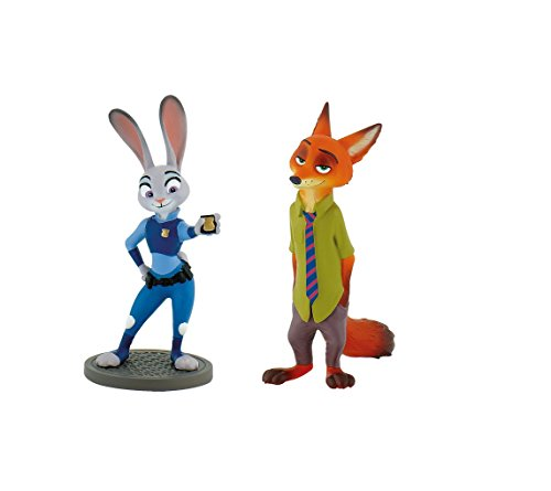 Disney's Zootopia Birthday Party Cake Toppers Featuring Judy Hopps and Nick Wilde