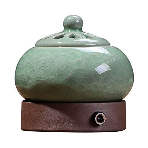 Weihrauch-Brenner - Timing Temperaturregelung elektronische Keramik Aromatherapie Ofen - Agarwood Ofen ätherisches Öl elektronische Aromatherapie Lampe