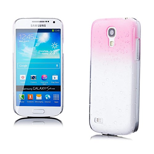 iCues Samsung Galaxy S4 MINI | Wassertropfen Hülle Rosa | [Bildschirm Schutzfolie Inklusive] Transparent Klarsichthülle Durchsichtig Klare Klarsicht Schutzhülle Hülle Cover Schutz