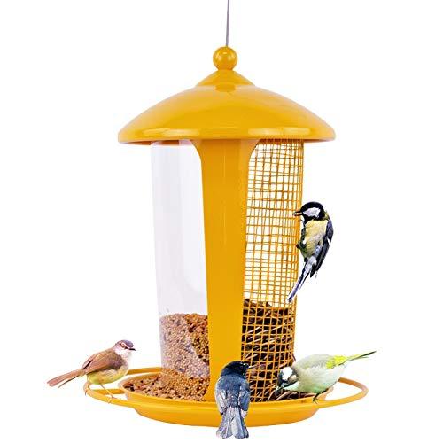 JXXDDQ Mangeoire à Oiseaux Sauvage pour la décoration de Jardin, Cintre de mangeoires pour Grands Oiseaux (Couleur : Le Jaune)