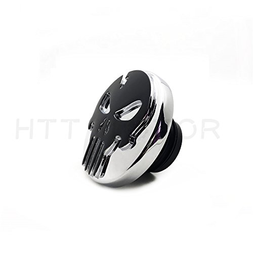 SMT-Black Skull Fuel Gas Tank Cap Cover Compatible With Harley 1992-Up Sportster/1994-Up Road King [B07B4RQ76P]