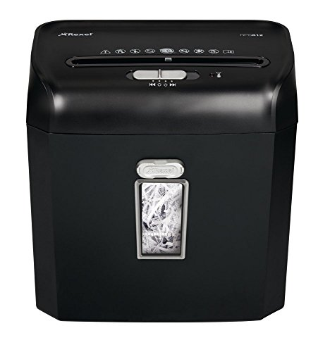 Rexel Promax RPS812 Aktenvernichter für persönliche/geschäftliche Zwecke, Streifenschnitt, Manueller Einzug, 12L Abfallbehälter, 8 Blatt Kapazität,, Schwarz, 2101826A