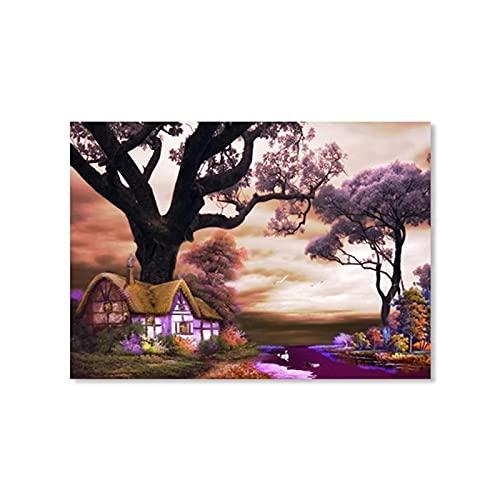 YYAYA.DS Cuadros Decorativos Hermoso Paisaje Country Life Poster Art Print Picture Home Wall Art Pasillo Pintura Decoración Moderna 60x90cm