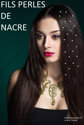 Haarschmuck, Perlennetz, transparent, Swarovski-Kristalle, Befestigung Enthalten. 4 durchsichtige Fäden pro Packung, 6 Mini-Perlen aus Perlmutt pro Faden Wird von Haarprofis verwendet. Geschenktüte + Geschenkwert in jeder Lieferung.