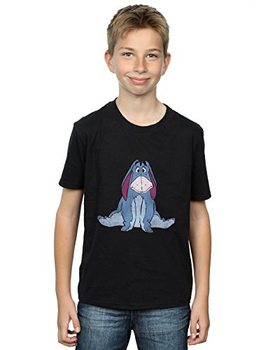 Disney niños Winnie The Pooh Classic Eeyore Camiseta 5-6 Years Negro