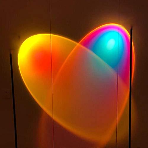 Topashe Lámpara Proyector Puesta Sol,de Puesta de Sol de Arco Iris,Lámpara de pie LED, lámpara de proyección de luz de Arco Iris-Párrafo Ordinario_1,8 Metros