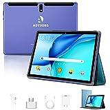 Tablet 10 Pollici Android 9.0 Pie Tablets 4GB RAM+64GB ROM,4G LTE Quad Core ,Certificato Google GSM, Dual SIM Tablet Pc con 3 Slot 8000mAh/WIF I/Bluetooth/GPS/Type-C (5.0 +8.0 MP Telecamera)-blu