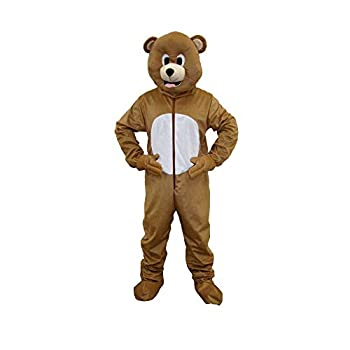 Dress Up America Brown Bear Mascot For Adults and kids Large 12-14  34-38  waist 50-57  height
