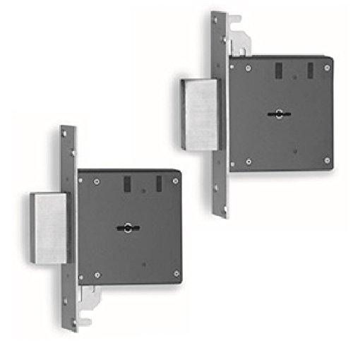 Par de cerraduras con llave de doble mapa 4 mandados 3134AB – 60 mm
