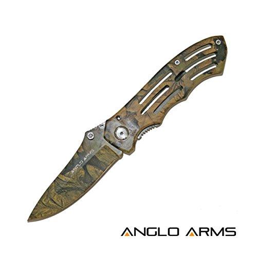 Anglo Arms Camouflage Taschenmesser mit einer 8,4cm Klinge inklusive Nylontasche