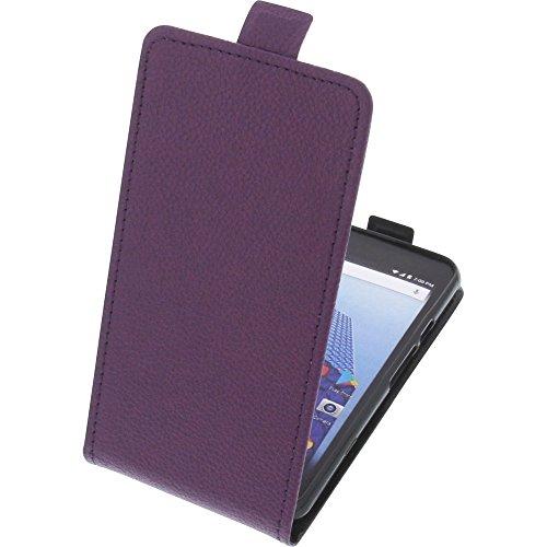foto-kontor Tasche für Archos Access 50 4G Smartphone Flipstyle Schutz Hülle lila