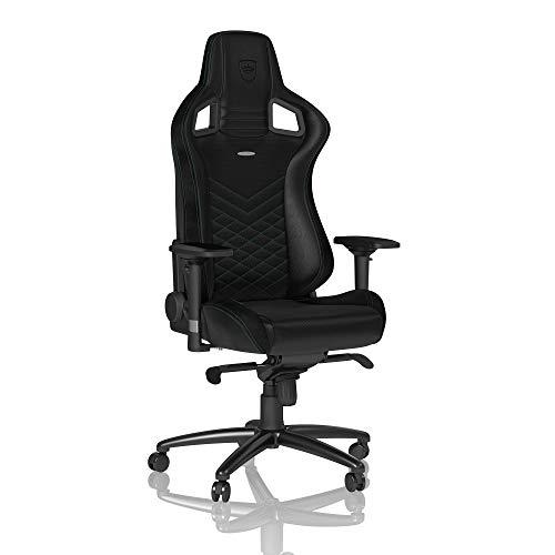 noblechairs Epic Chaise de Gaming - Chaise de Bureau (Noir/Vert, Cuir Synthétique PU)