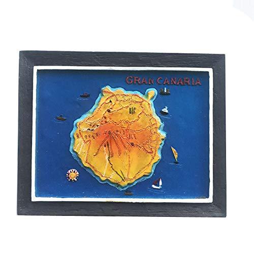 3D-Kühlschrankmagnet, Motiv: Gran Canaria Spanien, Souvenir, Geschenk, handgefertigt, Heim- und Küchendekoration, Gran Canaria Kühlschrankmagnet-Kollektion
