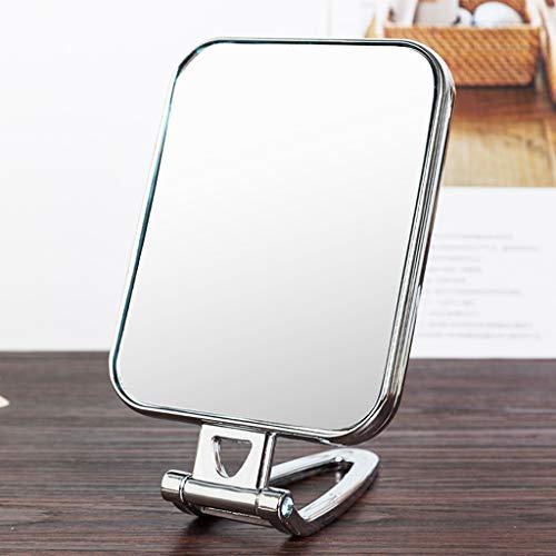 LQY Miroir à Main, Miroir de Maquillage, Miroir Pliant portatif, Miroir Compact portatif, Miroir de Coiffeuse Double Face,C