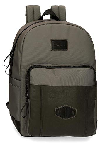 "Pepe Jeans Village Laptop-Rucksack Grau 32x44x15 cms Polyester und PU 15,6"" 21.12L"