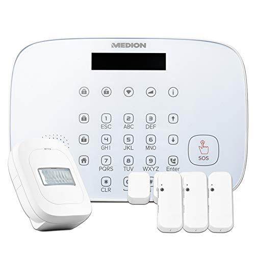 MEDION P85773 Smart Home Set (1x Alarmzentrale, 3X Tür und Fensterkontakte, 1x Bewegungsmelder)