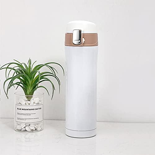 Mosako - Botella de vacío de acero inoxidable con termo termo (500 ml), color blanco