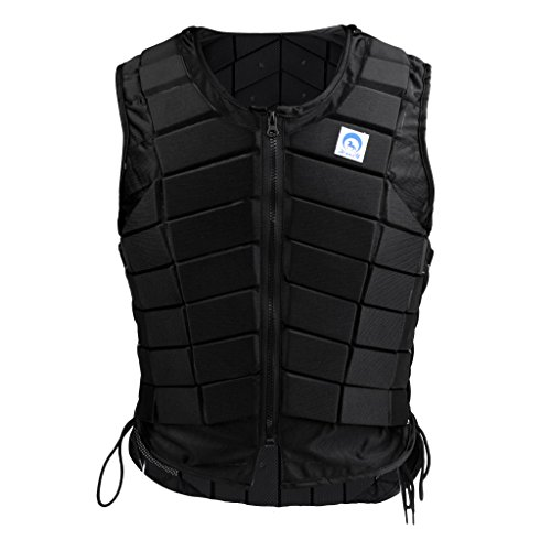 menolana Horse Riding Safety Eventing Equestrian Protective Vest Body Protector for Adults Boys and Girls, Equine Equestrian Equipment Supplies, Black - Women S