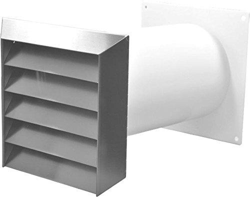 Hochwertiger 150er Mauerkasten mit Edelstahlgitter R&anschluss. Einbaudurchmesser 160mm. Innenliegende Rückstauklappe