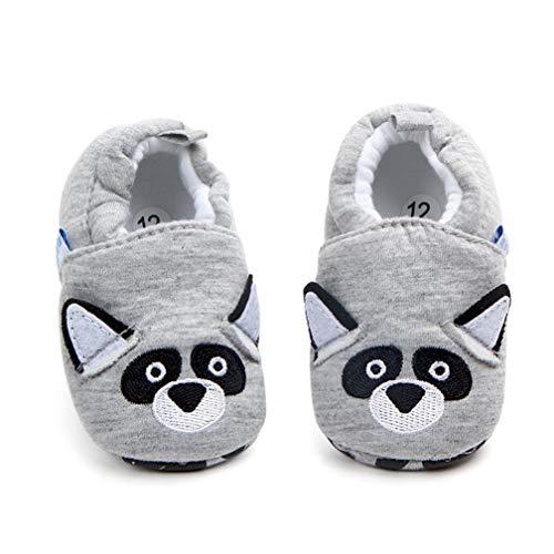 Unisex Baby Cartoon Tier weichen Boden Schuhe Indoor Kleinkind Schuhe (6~12Monat, Grizzly)