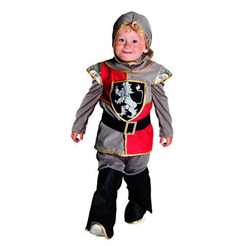 Amakando Ritter Kinderkostüm - 3-4 Jahre - Tempelritter Kostüm Kreuzritter Faschingskostüm Mittelalterkostüm Junge Mittelalter Kleidung Kinder Tempelritter Kostüm