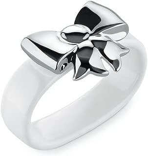 Alessi MW47S2 Set2Napkin Dressed X-Mas Napkin Rings, Set Of 2 White
