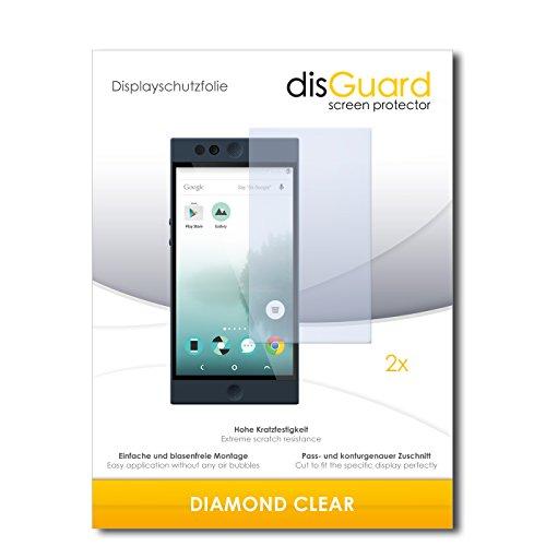 disGuard 2 x Bildschirmschutzfolie Nextbit Robin Schutzfolie Folie DiamondClear unsichtbar